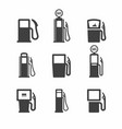 gas pump icons vector image