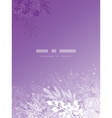 Magical silhouette plants vertical template vector image