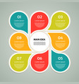 template for your business presentation vector image