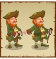 Two images one of leprechaun with clover vector image