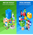 Garbage Recycling Vertical Banners vector image
