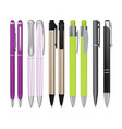 ball pens collection vector image
