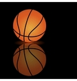 basketball on a smooth surface vector image vector image