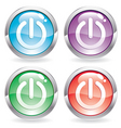 set gloss button with switch vector image vector image