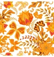 Seamless hand draw butterfly with floral pattern vector image