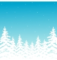 background with winter forest vector image