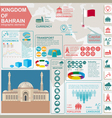 Bahrain infographics statistical data sights vector image