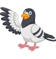Cute Pigeon bird presenting isolated vector image
