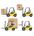 Loader with Box Shipment Icons Set vector image