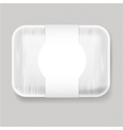 Plastic Food Container vector image