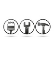 repairing tools icons vector image