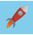 rocket social media isolated icon design vector image