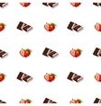 Seamless Pattern Chocolate Strawberry vector image