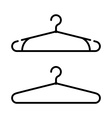 Set of two coat hanger icons Clothes hanger icon vector image