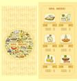 spa salon menu card set of cute various spa icon vector image