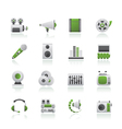 Audio and video icons vector image vector image