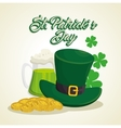 saint patrick day elf hat vector image