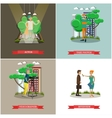 set of photo and video concept posters vector image