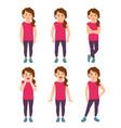 little girls emotions vector image vector image