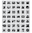 auto icons vector image vector image