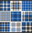 set of tartan seamless pattern vector image