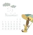 Calendar for November 2014 vector image