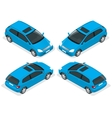 3-door Hatchback car isolated isometric vector image