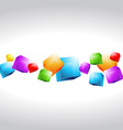 mutli color cubes shapes vector image