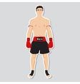 Muay tai fighter vector image