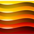 Abstract red orange and yellow shiny wave shapes vector image