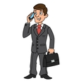 Businessman talking on phone vector image
