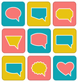 Flat speech bubbles vector image