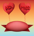 love mr and miss vector image