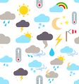 Weather forecast pattern stickers vector image vector image