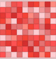 color red mosaic tile square background vector image