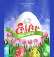 easter egg hunt poster vector image
