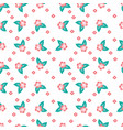 seamless pattern of hibiscus flower vector image