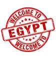 welcome to egypt red round vintage stamp vector image