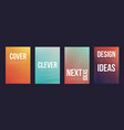 set of 4 cover magazine template cover vector image vector image