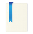 exercise book in a cage blue ribbon vector image