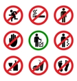 Prohibitory icons vector image