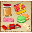 Great set of sweets for any occasion vector image