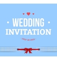 Cute Wedding Invitation Card vector image vector image