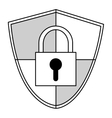 shield with safety lock vector image