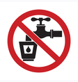 Do Not Drink Water Sign vector image