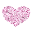 Doodle Valentine hearts vector image
