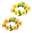 Floral wreath of bright yellow flowers vector image
