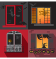 Halloween holiday Windows vector image