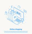 online shopping thin line design eps 10 vector image