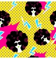 Retro 80s disco party seamless pattern vector image